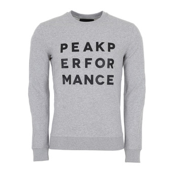 Peak Performance GROUND - Sudadera hombre med grey mel