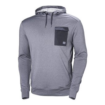 Sweat à capuche homme HYGGEN graphite blue