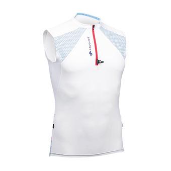 Maillot sans manches 1/3 zippé homme PERFORMER blanc