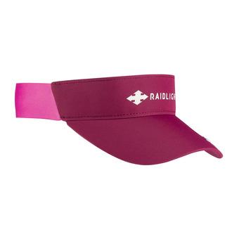 Raidlight R-SUN - Visera mujer granate/rosa