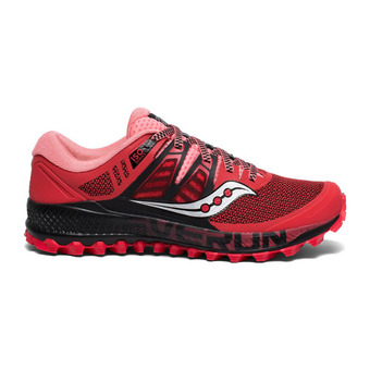 Saucony PEREGRINE ISO - Zapatillas de trail mujer hibiscus/negro