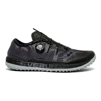 Saucony SWITCHBACK ISO - Zapatillas de trail hombre negro/gris