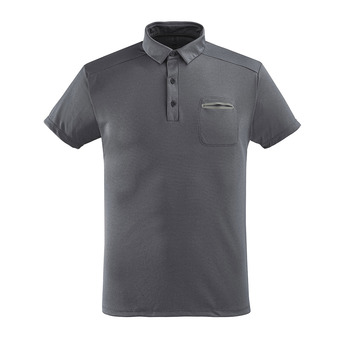 Polo MC homme BROCKWELL crest black