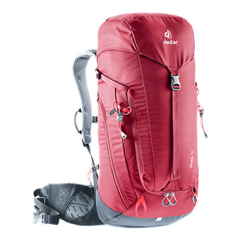 Deuter TRAIL 30L - Backpack - burgundy/navy blue