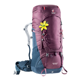 Deuter AIRCONTACT 50+10L - Mochila mujer blackberry/marine blue