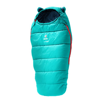 Deuter LITTLE STAR - Saco de dormir Junior oil blue/blue marine