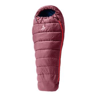 Deuter STARLIGHT - Sleeping Bag - Junior - burgundy/navy blue