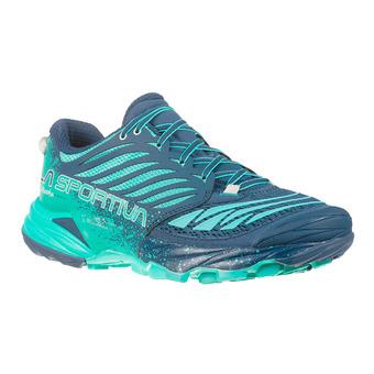Zapatillas de trail mujer AKASHA opal/aqua