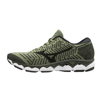 Mizuno WAVEKNIT S1 - Chaussures running Homme olivine/black/met shadow