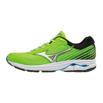 Mizuno WAVE RIDER 22 - Chaussures running Homme green gecko/silver/brilliant blue