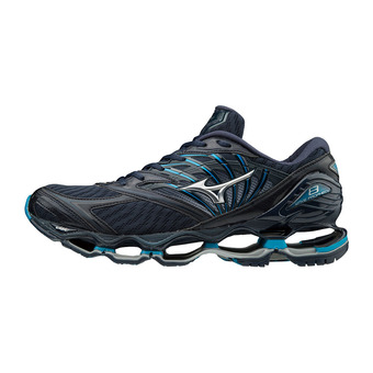 Mizuno WAVE PROPHECY 8 - Chaussures running Homme dress blue/silver/blue jewel