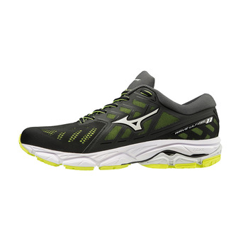 Mizuno WAVE ULTIMA 11 - Chaussures running Homme black/white/safety yellow