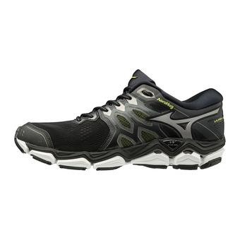 Chaussures de running homme WAVE HORIZON 3 black/met. shadow/safety yellow