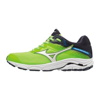 Mizuno WAVE INSPIRE 15 - Chaussures running Homme green gecko/white/graphite