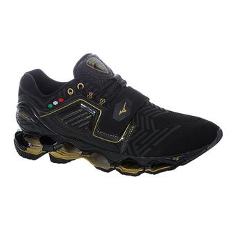 Mizuno WAVE TENJIN 4 - Chaussures running Homme black/dark shadow/gold