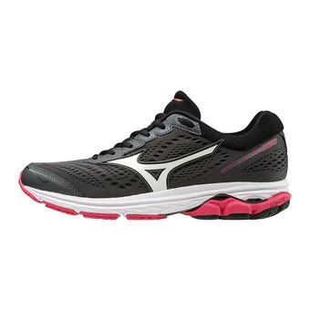 Mizuno WAVE RIDER 22 - Chaussures running Femme angel dark shadow/white/azalea