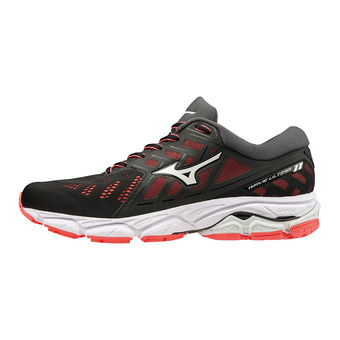 Mizuno WAVE ULTIMA 11 - Chaussures running Femme black/white/fiery coral