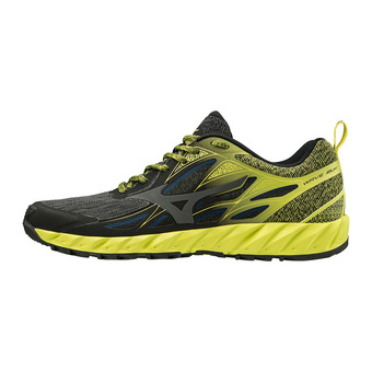 Mizuno WAVE IBUKI - Zapatillas de trail hombre black/dark shadow/bolt