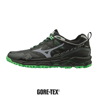 Mizuno WAVE DAICHI 4 GTX - Chaussures trail Homme dark shadow/quiet shade/poison green