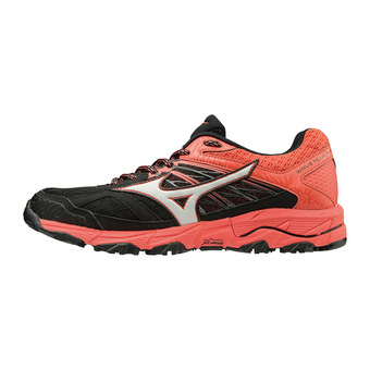 Mizuno WAVE MUJIN 5 - Zapatillas de trail mujer black/glacier grey/hot coral