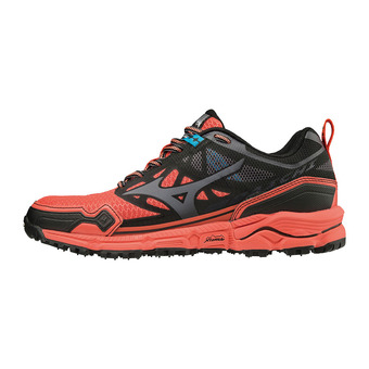 Mizuno WAVE DAICHI 4 - Chaussures trail Femme fiery coral/dark shadow/black