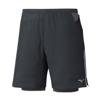 Mizuno ER 7.5 2IN1 - Short 2 en 1 hombre black