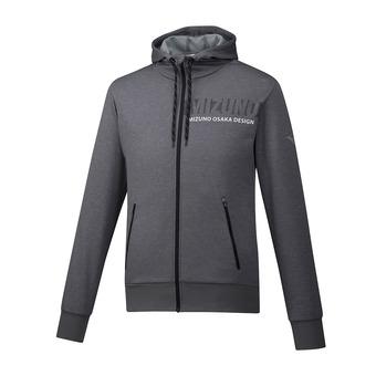 Sweat zippé à capuche homme HERITAGE grey melange
