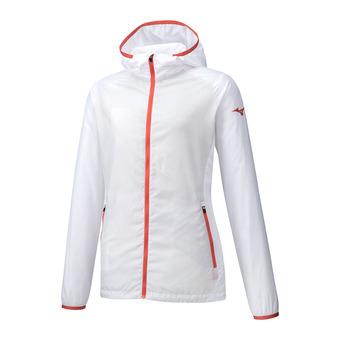 Printed Hoody Jacket Femme White