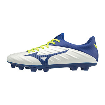 Mizuno REBULA 2 V3 - Crampons rugby white/mazzarine blue/safety yellow