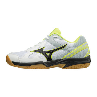 Mizuno CYCLONE SPEED - Chaussures volley Homme white/black/safety yellow