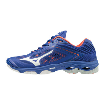 Mizuno WAVE LIGHTNING Z5 - Zapatillas de voleibol hombre reflex blue/white/nasturtium