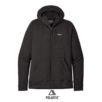 Veste polaire à capuche homme R1 FULL-ZIP black