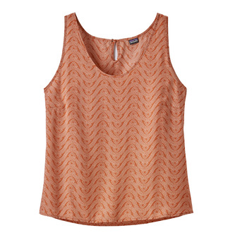 W's June Lake Tank Femme Bluff River: Sunset Orange