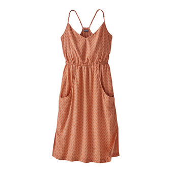 W's Lost Wildflower Dress Femme Bluff River: Sunset Orange