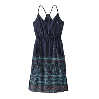 Patagonia LOST WILDFLOWER - Abito Donna forest song/neo navy