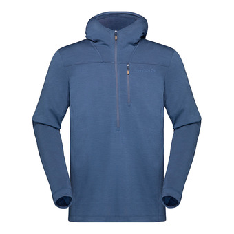 Hoodie - Men's - SVALBARD WOOL indigo night