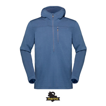 Norrona SVALBARD WOOL - Sweat Homme indigo night