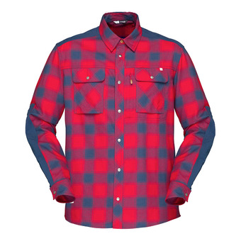Norrona SVALBARD FLANNEL - Camisa hombre jester red