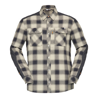 Norrona SVALBARD FLANNEL - Camisa hombre sandstone