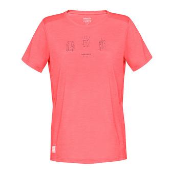 SS T-Shirt - Women's - SVALBARD WOOL crisp ruby