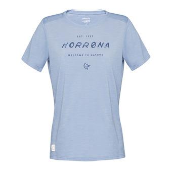SS T-Shirt - Women's - SVALBARD WOOL coronet blue