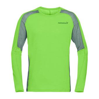 Norrona BITIHORN WOOL - Tee-shirt Homme bamboo green