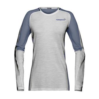 Norrona BITIHORN WOOL - Camiseta mujer drizzle