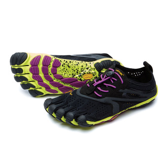 Five Fingers V-RUN - Chaussures running Femme noir/jaune/violet