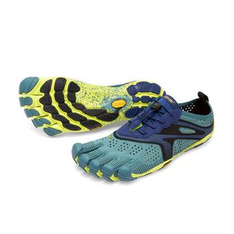 Five Fingers V-RUN - Chaussures running Homme bleu marine/jaune