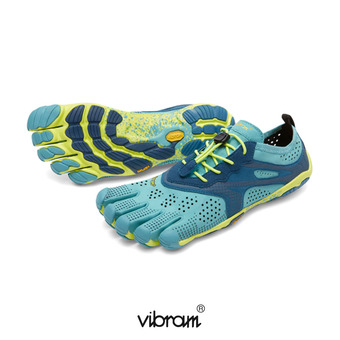 Five Fingers V-RUN - Scarpe da running Donna turchese/blu mare/giallo