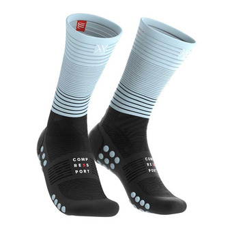 Compressport COMPRESSION - Calcetines black/iced blue