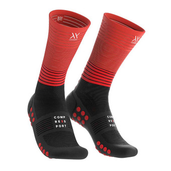 Mid Compression Socks Unisexe BLACK/RED