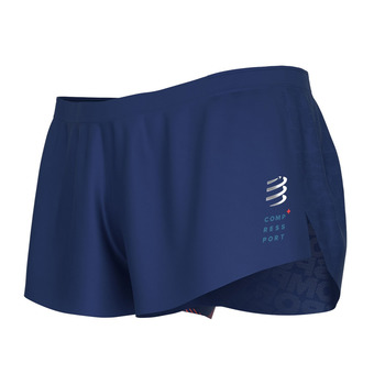Compressport RACING SPLIT - Shorts - Men's - blue
