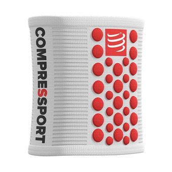 Compressport SWEAT 3D.DOTS - Muñequeras white/red